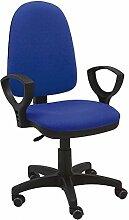 Stuhl Express–Drehstuhl mit Armlehnen, Kunststoff, 60x 60x 94cm 60x60x94 cm blau