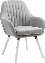 Stuhl Florian-grau-Weiß