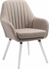 Stuhl Florian-taupe-Weiß