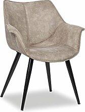 Stuhl grau, Esszimmerstuhl grau, Stuhl gepolstert