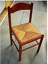 Stuhl Holz Sitzfläche Stroh mit Walnuss oder Kirsche x Küche Esszimmer Wohnzimmer Super Offer