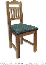 Stuhl Holzstuhl Massivholz gepolstert Landhausstil