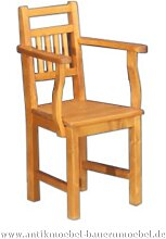 Stuhl Holzstuhl mit Armlehne Massivholz