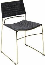 Stuhl Hugo Schwarz Schwarz KARE Design Farbe: