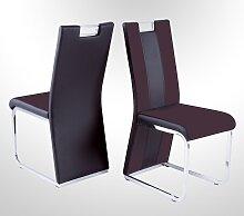 Stuhl in 4er Set Bari III Dunkelbraun von Reality Import