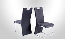 Stuhl in 4er Set Bari III Grau/Schwarz von Reality Import