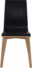 Stuhl in Schwarz Eiche Holzbeine (2er Set)