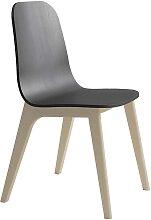 Stuhl in Schwarz Massivholzgestell in Buche