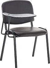 Stuhl Ken mit Klapptisch Kunstleder-braun-Metall matt schwarz