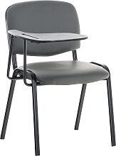 Stuhl Ken mit Klapptisch Kunstleder-grau-Metall