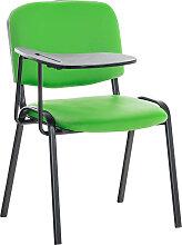 Stuhl Ken mit Klapptisch Kunstleder-grün-Metall matt schwarz