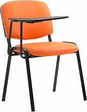 Stuhl Ken mit Klapptisch Kunstleder-orange-Metall matt schwarz