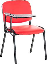 Stuhl Ken mit Klapptisch Kunstleder-rot-Metall