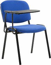 Stuhl Ken mit Klapptisch Stoff-blau