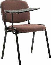 Stuhl Ken mit Klapptisch Stoff-braun
