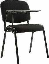 Stuhl Ken mit Klapptisch Stoff-schwarz