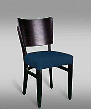Stuhl Leblon 10 mit Kunstlederbezug, Farbe: Blau - Abmessungen: 88 x 43 x 42 cm (H x B x T)