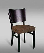 Stuhl Leblon 12 mit Stoffbezug, Farbe: Braun Vintage - Abmessungen: 88 x 43 x 42 cm (H x B x T)