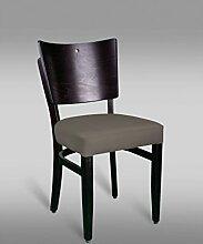 Stuhl Leblon 13 mit Kunstlederbezug, Farbe: Grau - Abmessungen: 88 x 43 x 42 cm (H x B x T)