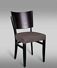 Stuhl Leblon 14 mit Kunstlederbezug, Farbe: Rot / Braun Vintage - Abmessungen: 88 x 43 x 42 cm (H x B x T)