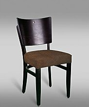 Stuhl Leblon 15 mit Stoffbezug, Farbe: Braun Vintage - Abmessungen: 88 x 43 x 42 cm (H x B x T)
