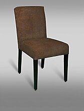 Stuhl Leblon 27 mit Stoffbezug, Farbe: Braun Vintage - Abmessungen: 90 x 46 x 57 cm (H x B x T)