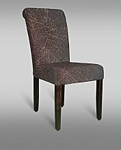 Stuhl Leblon 42 mit Stoffbezug, Farbe: Rot / Grau - Abmessungen: 90 x 48 x 53 cm (H x B x T)