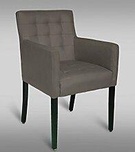 Stuhl Leblon 97 mit Kunstlederbezug, Farbe: Grau - Abmessungen: 91 x 54 x 56 cm (H x B x T)