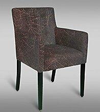 Stuhl Leblon 99 mit Stoffbezug, Farbe: Rot / Grau - Abmessungen: 91 x 54 x 56 cm (H x B x T)