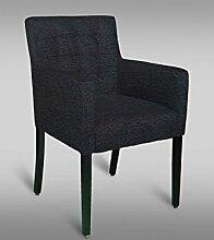 Stuhl Leblon 99 mit Stoffbezug, Farbe: Schwarz - Abmessungen: 91 x 54 x 56 cm (H x B x T)