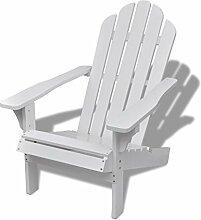 Stuhl-Lounge Garten Holz weiß