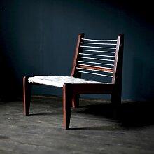 Stuhl mit Geflecht aus Baumwolle von Pierre