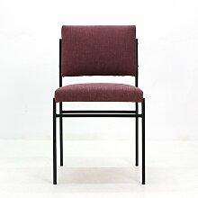 Stuhl mit Gestell aus röhrenförmigem Stahl,