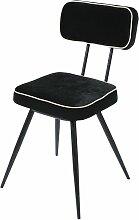 Stuhl mit schwarzem Samtbezug aus schwarzem Metall