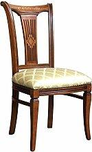 Stuhl mit Stoffbezug im Stil