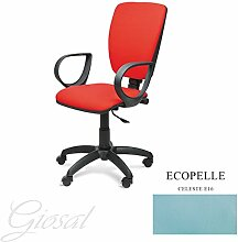 Stuhl Napoli schwarz Sessel drehbar Kunstleder Operative Studie Büro verschiedenen Farben giosal himmelblau