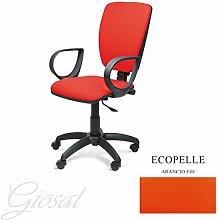 Stuhl Napoli schwarz Sessel drehbar Kunstleder Operative Studie Büro verschiedenen Farben giosal Arancione