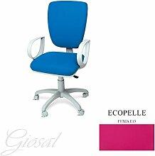 Stuhl Napoli Sessel drehbar Kunstleder Operative Studie Büro verschiedenen Farben giosal fuchsia