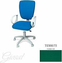 Stuhl Napoli Sessel Drehstuhl Stoff Operative Studie Büro verschiedenen Farben giosal grün