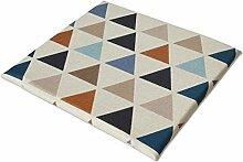 Stuhl-pad/baumwoll-leinen-sofa-kissen-K 45x45cm(18x18inch)