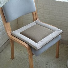 Stuhl-pad/leinen pure color kissen/tatami kissen/soft kissen für computer chair-B 40x40cm(16x16inch)