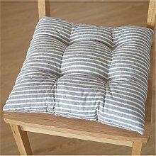 Stuhl-pad/striped cotton leinen chair mat-B 43x43cm(17x17inch)