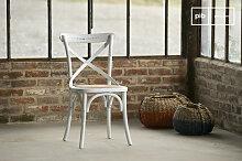 Stuhl Pampelune Weiß Landhausstil