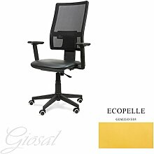 Stuhl Passion Sessel drehbar Kunstleder Operative Studie Büro verschiedenen Farben giosal gelb