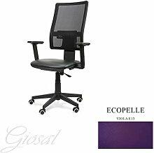 Stuhl Passion Sessel drehbar Kunstleder Operative Studie Büro verschiedenen Farben giosal viole
