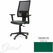 Stuhl Passion Sessel Drehstuhl Stoff Operative Studie Büro verschiedenen Farben giosal grün