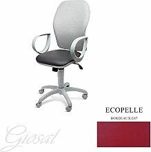 Stuhl Q3Sessel drehbar Kunstleder Operative Studie Büro verschiedenen Farben giosal bordeaux