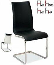 Stuhl Rion Freischwinger Schwarz Weiß