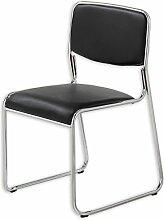 Stuhl SATURN - schwarz - Kunstleder