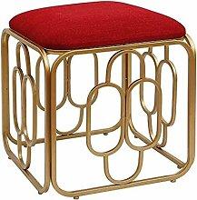 Stuhl, Schminkhocker, quadratisch, Fußhocker aus